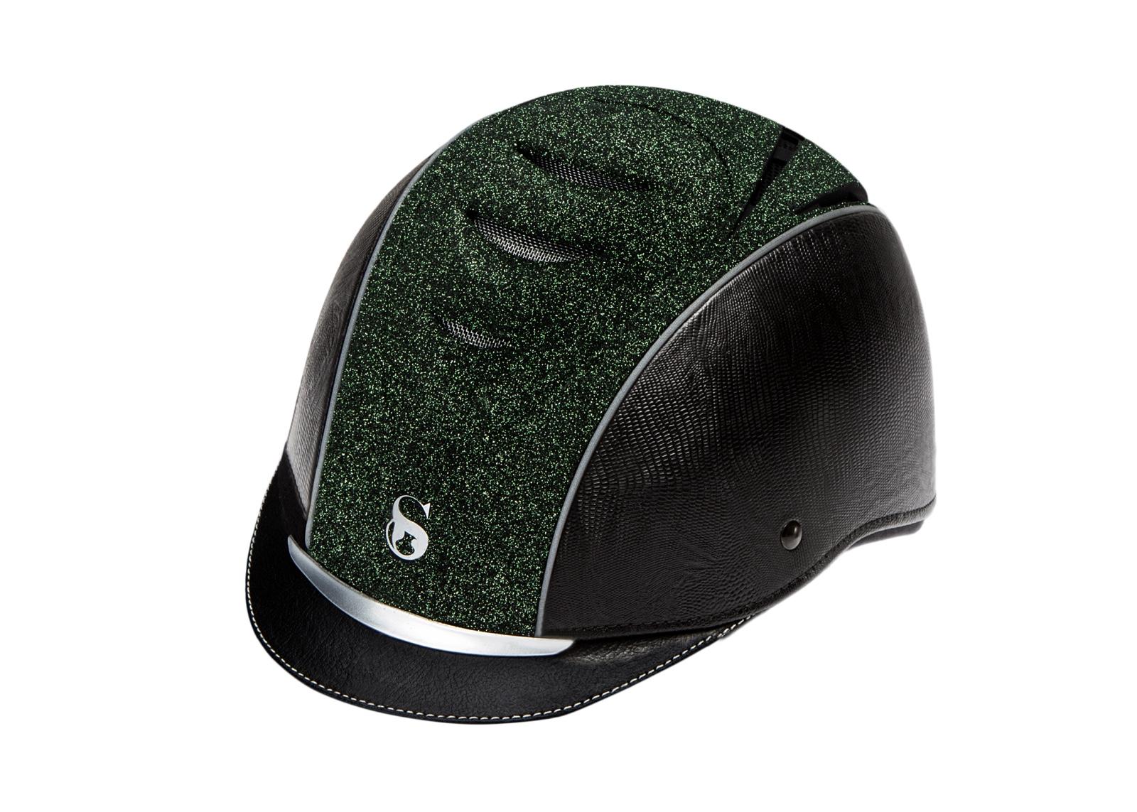 SCHARF nr. 6 - Sort med sort croco - Green Night Sky